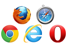 themes features browsers